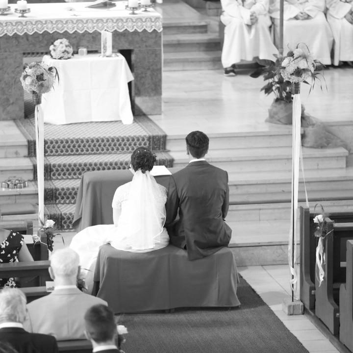 Ein Fußballer heiratet seine Angebetete